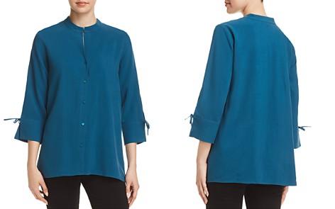 Eileen Fisher Petites Silk Tie-Sleeve Top - Bloomingdale's_2