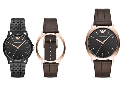 Emporio Armani Three-Hand Watch, 41mm with Interchangeable Strap Gift Set - Bloomingdale's_2