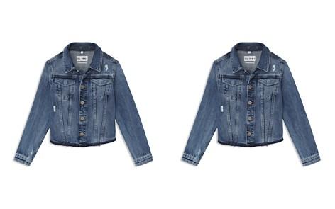 DL1961 Girls' Denim Jacket with Knit Sleeves & Hood - Little Kid - Bloomingdale's_2