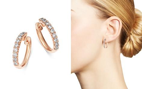 Bloomingdale's Diamond Hoop Earrings in 14K Rose Gold, 1.0 ct. t.w. - 100% Exclusive_2