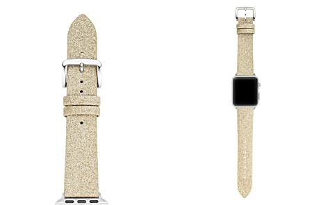 kate spade new york Gold-Tone Glitter-Effect Apple Watch® Leather Strap, 38mm - Bloomingdale's_2