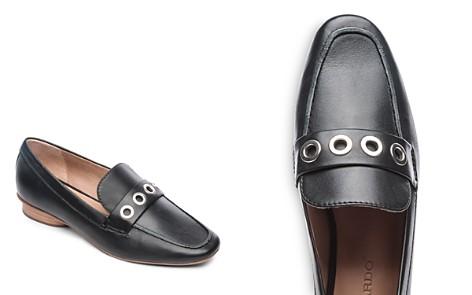 Bernardo Women's Ingrid Grommet Leather Loafers - Bloomingdale's_2
