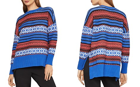 BCBGMAXAZRIA Striped High/Low Sweater - Bloomingdale's_2