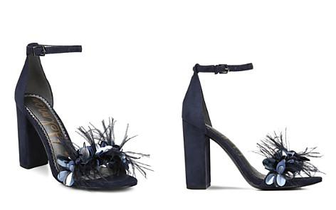 Sam Edelman Women's Yal Feather Embellished Leather & Suede High-Heel Sandals - Bloomingdale's_2