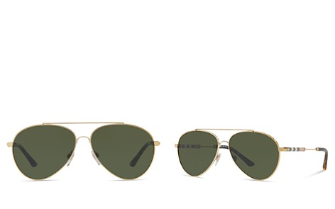 Burberry Women's Check Aviator Sunglasses, 57mm - Bloomingdale's_2