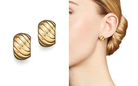 Roberto Coin 18K Yellow Gold Ribbed Earrings - Bloomingdale's_2