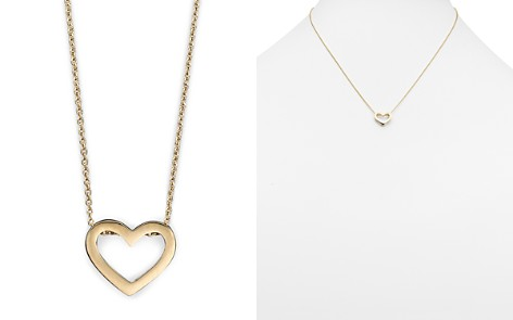 "Roberto Coin 18 Kt. Yellow Gold ""Tiny Treasure"" Heart Necklace, 18"" - Bloomingdale's_2"
