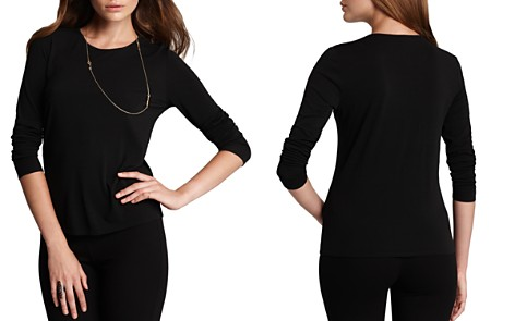 Eileen Fisher Women's Long Sleeve Stretch Silk Jersey Crew Neck Shirt - Bloomingdale's_2
