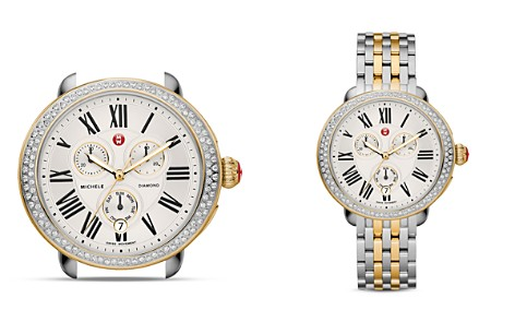 MICHELE Serein Two-Tone Diamond Watch Head, 40 x 38mm - Bloomingdale's_2