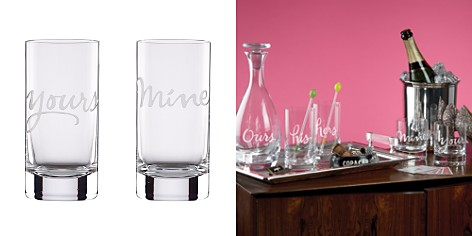 kate spade new york Two of a Kind Mine & Yours Highball Glasses, Set of 2 - Bloomingdale's_2