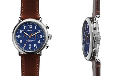 Shinola The Runwell Chronograph Brown Strap Watch, 47mm - Bloomingdale's_2