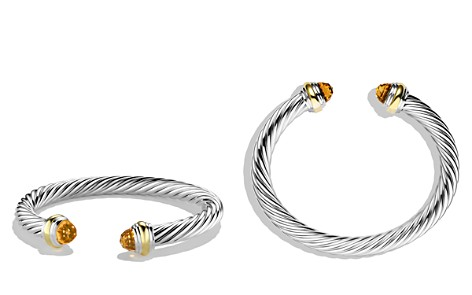 David Yurman Cable Classics Bracelet with Citrine and Gold - Bloomingdale's_2