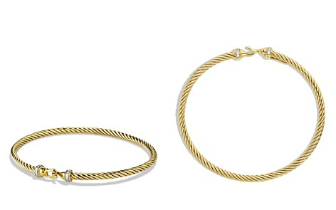 David Yurman Cable Buckle Bracelet with Diamonds in Gold - Bloomingdale's_2