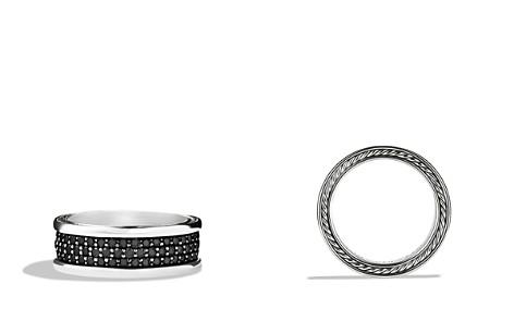 David Yurman Streamline Three-Row Band Ring with Black Diamonds - Bloomingdale's_2