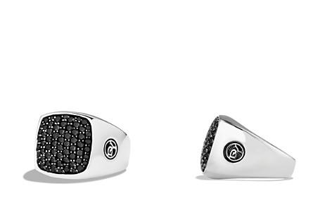 David Yurman Pavé Signet Ring with Black Diamonds - Bloomingdale's_2