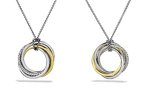 David Yurman Crossover™ Pendant with Gold on Chain - Bloomingdale's_2