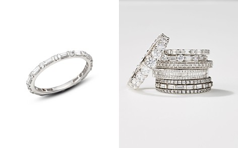 Bloomingdale's Baguette & Round Diamond Band in 14K White Gold, 0.55 ct. t.w. - 100% Exclusive _2