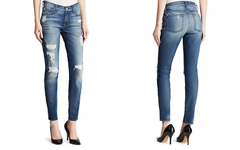 7 For All Mankind Jeans - The Ankle Skinny Destruction in Distressed Authentic Light - Bloomingdale's_2