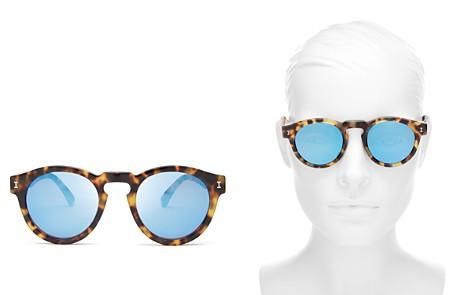 Illesteva Women's Leonard Mirrored Round Sunglasses, 48mm - Bloomingdale's_2