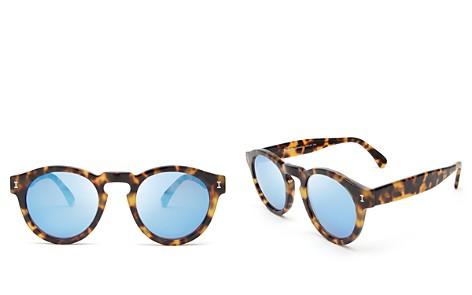 Illesteva Leonard Mirrored Round Sunglasses, 48mm - Bloomingdale's_2