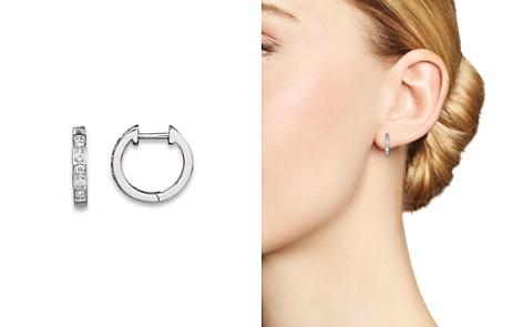 KC Designs Diamond Mini Hoops in 14K White Gold - Bloomingdale's_2