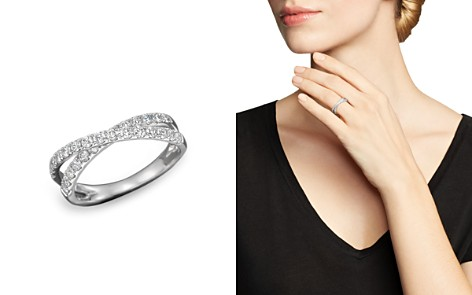 Diamond Crossover Band Ring in 14K White Gold, .75 ct. t.w. - 100% Exclusive - Bloomingdale's_2