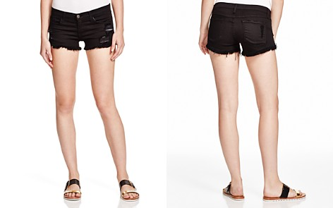Flying Monkey Shredded Cutoff Shorts in Black - 100% Exclusive - Bloomingdale's_2