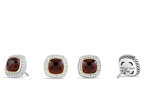 David Yurman Albion Earrings with Garnet and Diamonds with 18K Gold - Bloomingdale's_2