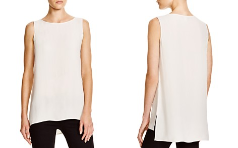 Eileen Fisher Petites System High/Low Silk Tank - Bloomingdale's_2