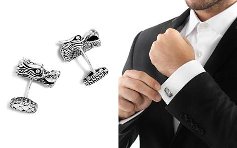 John Hardy Men's Naga Silver Dragon Head Cufflinks - Bloomingdale's_2