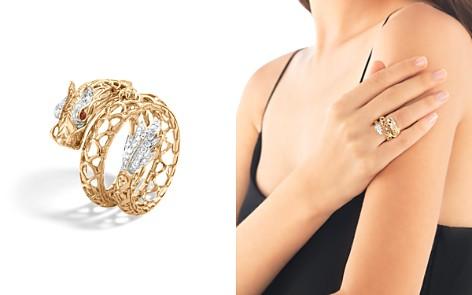 John Hardy 18K Gold Naga Diamond Pavé Dragon Coil Ring with African Ruby Eyes - Bloomingdale's_2