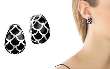 John Hardy Naga Sterling Silver and Black Enamel Buddha Belly Earrings - Bloomingdale's_2