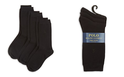 Polo by Ralph Lauren Classic Flat Knit Socks, Set of 3 - Bloomingdale's_2