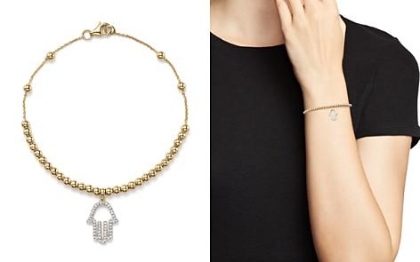 KC Designs Diamond Hamsa Beaded Bracelet in 14K Yellow Gold, .14 ct. t.w. - Bloomingdale's_2