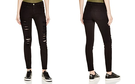 FRAME Le Color Ripped Jeans in Film Noir - Bloomingdale's_2