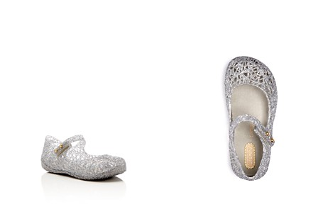 Mini Melissa Girls' Campana Glitter Zigzag Mary Jane Flats - Walker, Toddler - Bloomingdale's_2