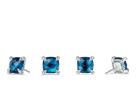 David Yurman Châtelaine Earrings with Hampton Blue Topaz and Diamonds - Bloomingdale's_2