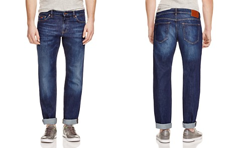 BOSS Maine Stretch Straight Fit Jeans in Indigo - Bloomingdale's_2