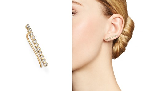 Zoë Chicco 14K Yellow Gold and Tiny Bezel Diamond Ear Shield - Bloomingdale's_2