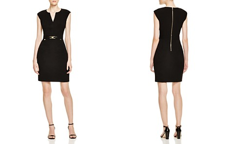 Calvin Klein Buckled Sheath Dress - Bloomingdale's_2