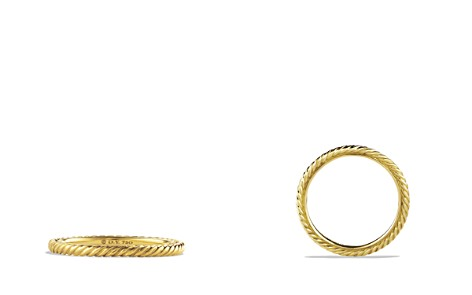 David Yurman Cable Classics Band Ring in 18K Gold - Bloomingdale's_2