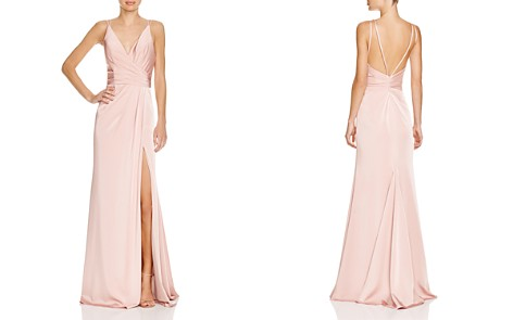 Faviana Couture Faille Satin Draped Gown - Bloomingdale's_2