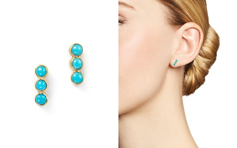Zoë Chicco 14K Yellow Gold Triple Bezel Turquoise Stud Earrings - Bloomingdale's_2