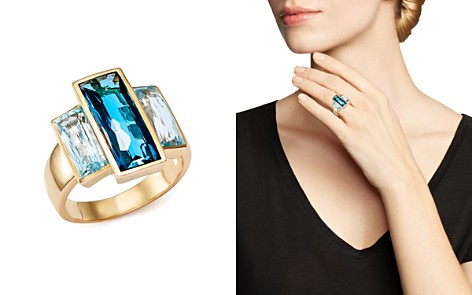 London Blue and Sky Blue Topaz Three Stone Ring in 14K Yellow Gold - 100% Exclusive - Bloomingdale's_2