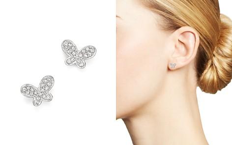 KC Designs Diamond Butterfly Stud Earrings in 14K White Gold - Bloomingdale's_2