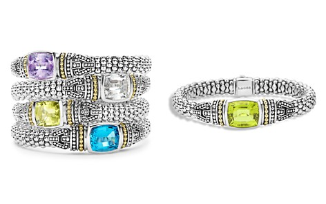 LAGOS 18K Gold and Sterling Silver Caviar Color Small Gemstone Bracelets, 9mm - Bloomingdale's_2