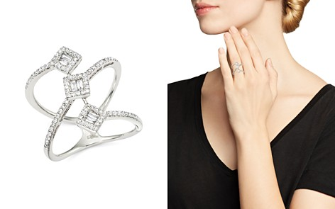 Diamond Round and Baguette Statement Ring in 14K White Gold, .50 ct. t.w. - 100% Exclusive - Bloomingdale's_2