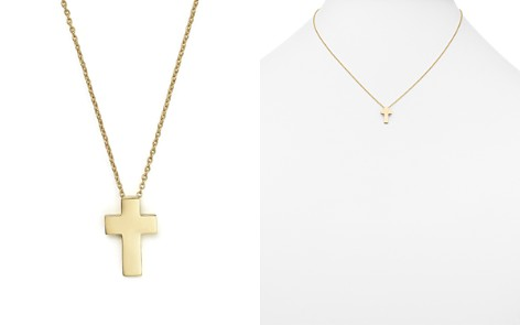 """Roberto Coin 18K Yellow Gold """"Tiny Treasure"""" Cross Pendant Necklace, 18"""" - Bloomingdale's_2"""