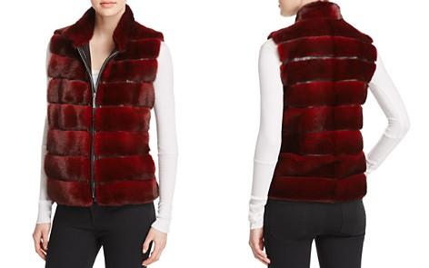 Maximilian Furs Leather-Trim Mink Vest - Bloomingdale's_2