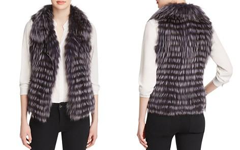 Maximilian Furs Thin Collar Nafa Fox Fur Vest - Bloomingdale's_2